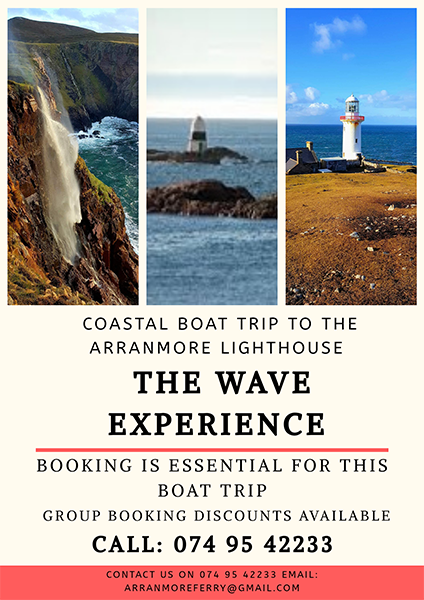 Coastal Boat Trip to The Arranmore Lighthouse